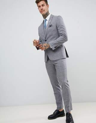 Harry Brown slim fit gray fleck suit pants