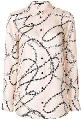 Alexander Wang barbed wire print shirt