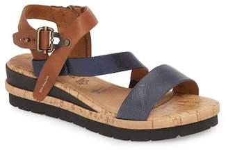 Tamaris Eda Diagonal Strap Wedge Sandal (Women)