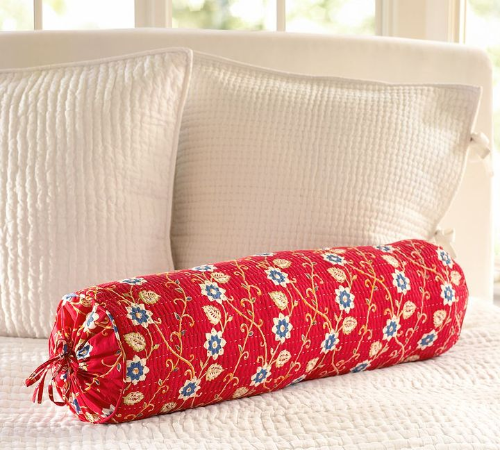 Sienna Patchwork Bolster Pillow Cover