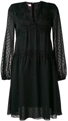 Giamba lace embroidered midi dress