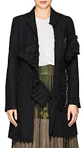 Comme des Garcons WOMEN'S WRINKLED TWILL THREE-BUTTON COAT-BLACK SIZE 2