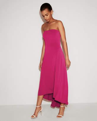 Express Strapless Hi-Lo Maxi Dress
