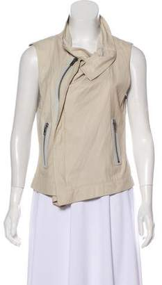 Veda Leather and Linen Vest