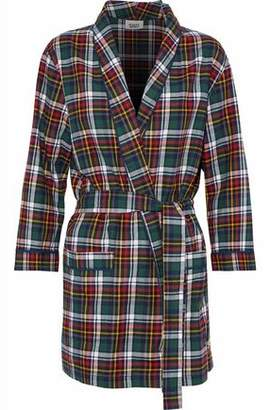 Sleepy Jones Louise Checked Cotton-flannel Robe 608dcdd49