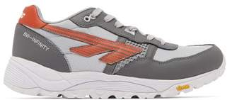 Hi Tec Hts74 Hi-tec Hts74 - Bw Infinity Rgs Leather Low Top Trainers - Mens - Silver Multi