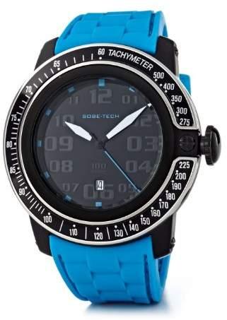 Glam Rock SoBe Tech – SB3017 Men's Watch – Analogue Quartz – Black Dial – Silicone Wristband – Turquoise