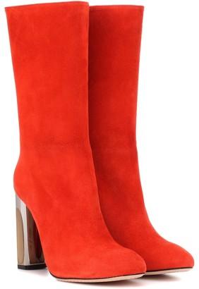 Alexander McQueen Mirror-heel suede boots