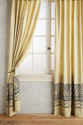 Anthropologie Embroidered Edge Curtain