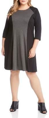 Karen Kane Plus Color Block Dress