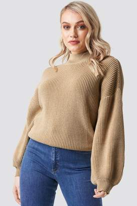 BEIGE Na Kd Trend Big Sleeve Knitted Sweater