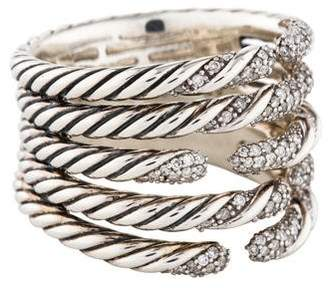 David Yurman Diamond Willow Five Row Ring