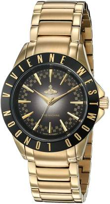 Vivienne Westwood Women's Swiss Quartz Metal and Stainless Steel Casual Watch, Color:Gold-Toned (Model: VV099BKGD)