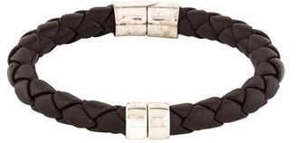 Bottega Veneta Leather Hinge Bracelet