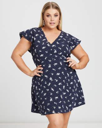 Megan Button Front Dress