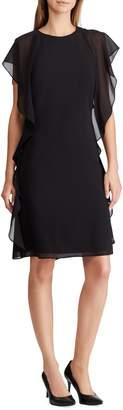 Lauren Ralph Lauren Ruffled Georgette Shift Dress