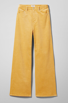 Weekday Ace Corduroy Trousers - Yellow
