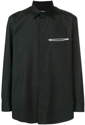 Issey Miyake embroidered welt pocket shirt