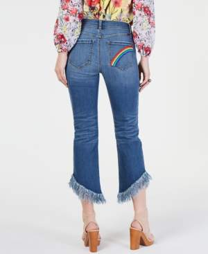 INC International Concepts I.n.c. Rainbow Fringe Cropped Skinny Jeans, Created for Macy's