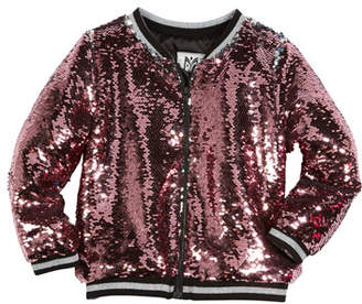 Milly Minis Moveable Sequin Bomber Jacket, Size 8-16