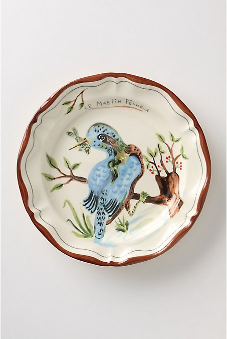 Francophile Dinner Plate, Kingfisher