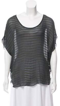 Joie Silk Chain-Accented Top