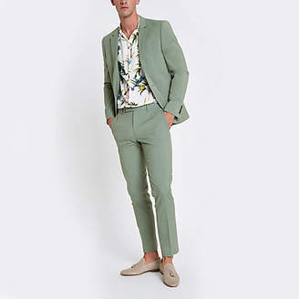River Island Mint green stretch skinny fit suit pants