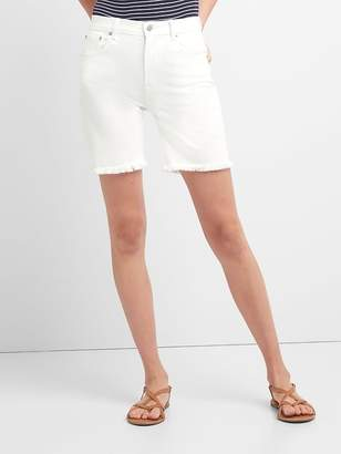 """Gap High Rise 7"""" Denim Shorts with Raw Hem"""