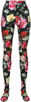 Dolce & Gabbana floral print tights