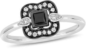 Everly Concerto 10K White Gold Statement Ring with 0.25 CT. T.W. Diamond