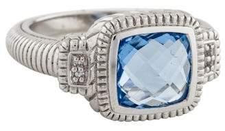 Judith Ripka Synthetic Sapphire & Sapphire La Petite Ring