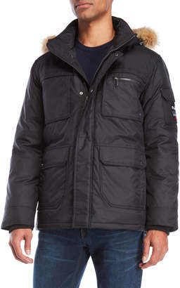 Pajar Canada Real Fur Trim Hooded Down Coat