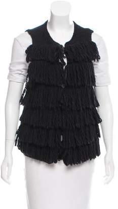 Lanvin Fringe Knit Vest