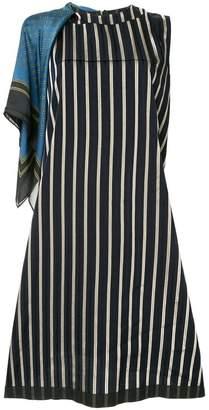 Puma Maison Yasuhiro contrast pattern dress