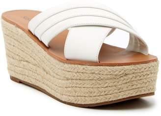 Susina Ellis Leather Platform Sandal