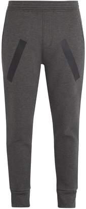 Neil Barrett Tapered-leg tape-print jersey track pants