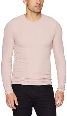 ATM Anthony Thomas Melillo Men's Modal Rib Long Sleeve Crew