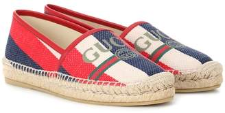 Gucci Exclusive to Mytheresa – Slyvie striped logo espadrilles