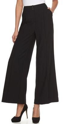 Women's Jennifer Lopez Wide-Leg Black Dress Pants $64 thestylecure.com