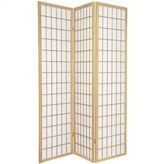 Oriental Furniture Asian Furniture, 6-Feet Window Pane Japanese Shoji Privacy Screen Room Divider