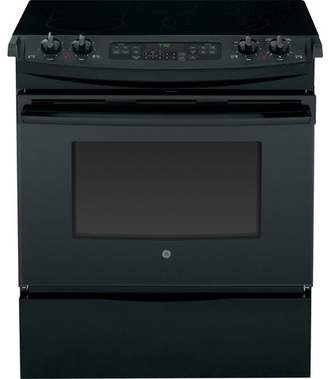 """GE Appliances 30"""" Slide-in Electric Range with Griddle"""