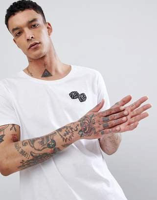 Asos Design DESIGN t-shirt print with dice chest print