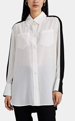 Givenchy Women's Oversized Colorblocked Silk Blouse - Black