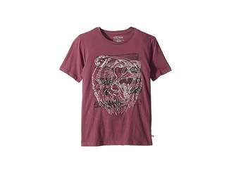 Lucky Brand Kids Bear Head Embroidered Short Sleeve T-Shirt (Big Kids)