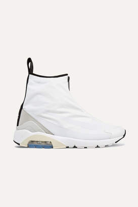 Nike Ambush Air Max 180 Hi Suede-trimmed Ripstop Sneakers - White