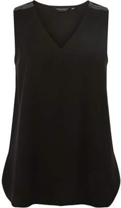 Dorothy Perkins Womens Black Embellished Shoulder Top