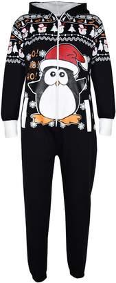 Original Penguin a2z4kids Kids Girls Boys Novelty Christmas Penguin Fleece Onesie All In One Jumpsuit 5-13
