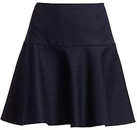 RED Valentino Women's Drop Waist Fit-&-Flare Skater Skirt