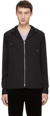 Schnaydermans Black Hooded Overshirt Jacket