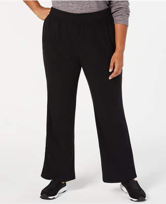 Karen Scott Plus Size Microfleece Pull-On Pants